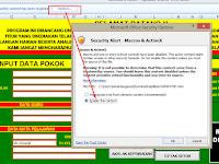 Berkas Sekolah Excel - Aplikasi Raport dan Daftar Nilai SMP/MTS Sementara Kurikulum KTSP Terbaru