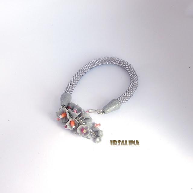 браслет,браслет ручной работы,бисерный жгут,чешский бисер, браслет из чешского бисера, браслет из полимерной глины