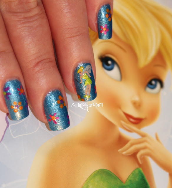 Tinkerbell Nails: Pixie Hollow Tinkerbell Nail Art