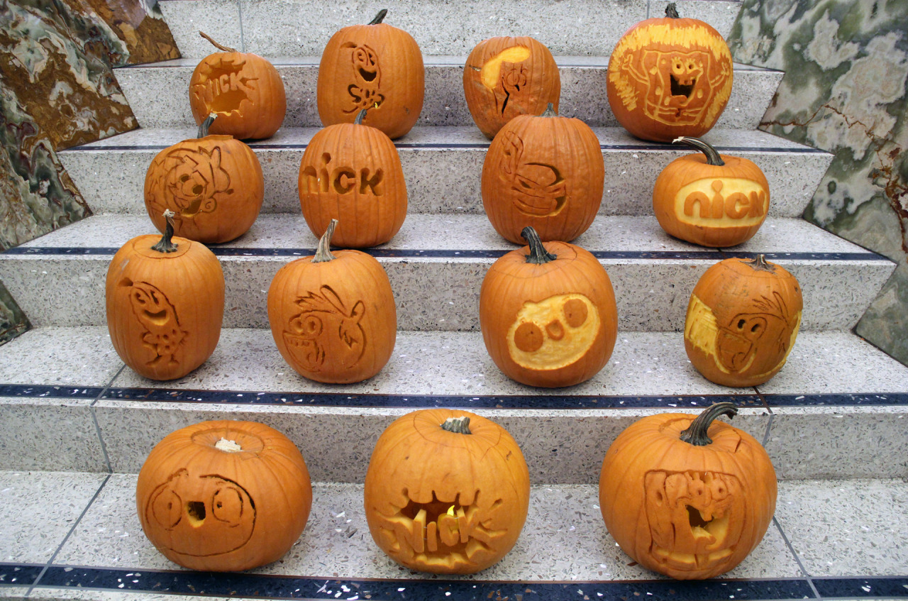 Nickalive nickelodeon halloween pumpkin stencils