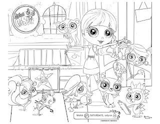 Littlest Pet Shop coloring pages all character