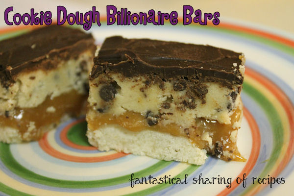 Cookie Dough Billionaire Bars - four layers of awesomesauce in one tasty, rich #dessert