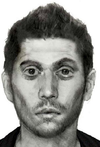 ... a sketch of the suspect in the shooting of a lesbian teen couple.