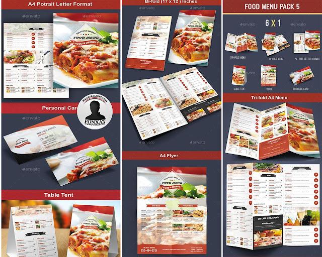 المجموعة التاسعة من منيوهات الطعام food menu design