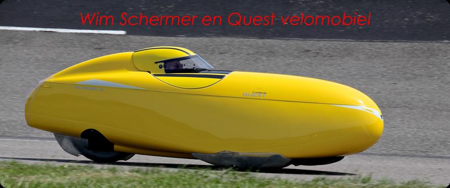 Velomobiel Quest en Wim Schermer