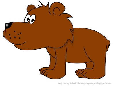 cute cartoon bear clip art for teaching kids