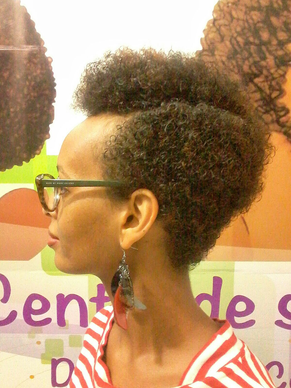 Coloration cheveux afro caramel