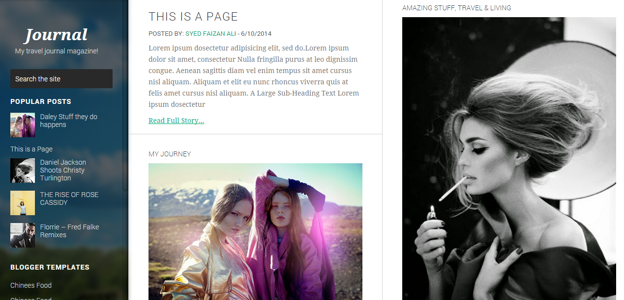 Download Journey Responsive Free Blogger Template