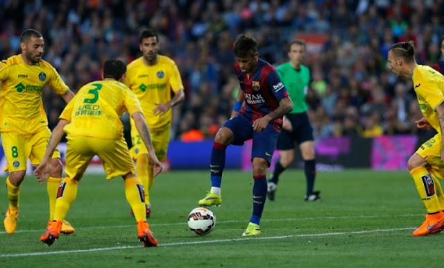 Getafe vs Barcelona La Liga Spain 2015