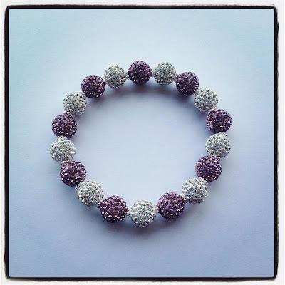 Lady Lu Jewels: Lavender & Silver Swarovski