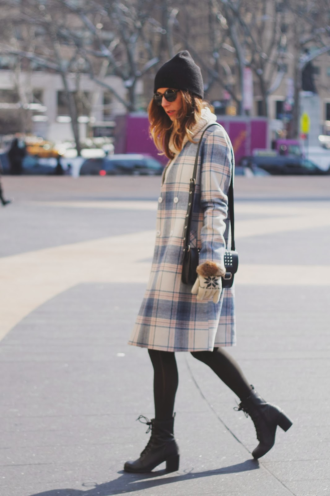 NYFW, tobruckave, Topshop, ootd, outfit, Plaid, Striped,