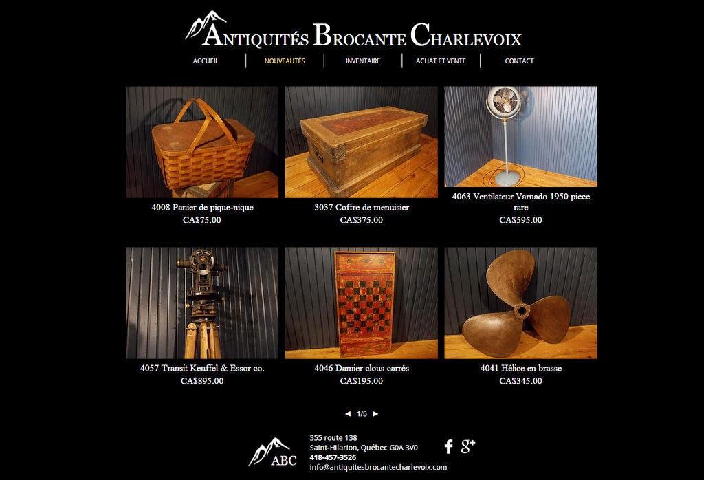 infos caciftd lancement d 39 un nouveau site antiquit s brocante charlevoix. Black Bedroom Furniture Sets. Home Design Ideas