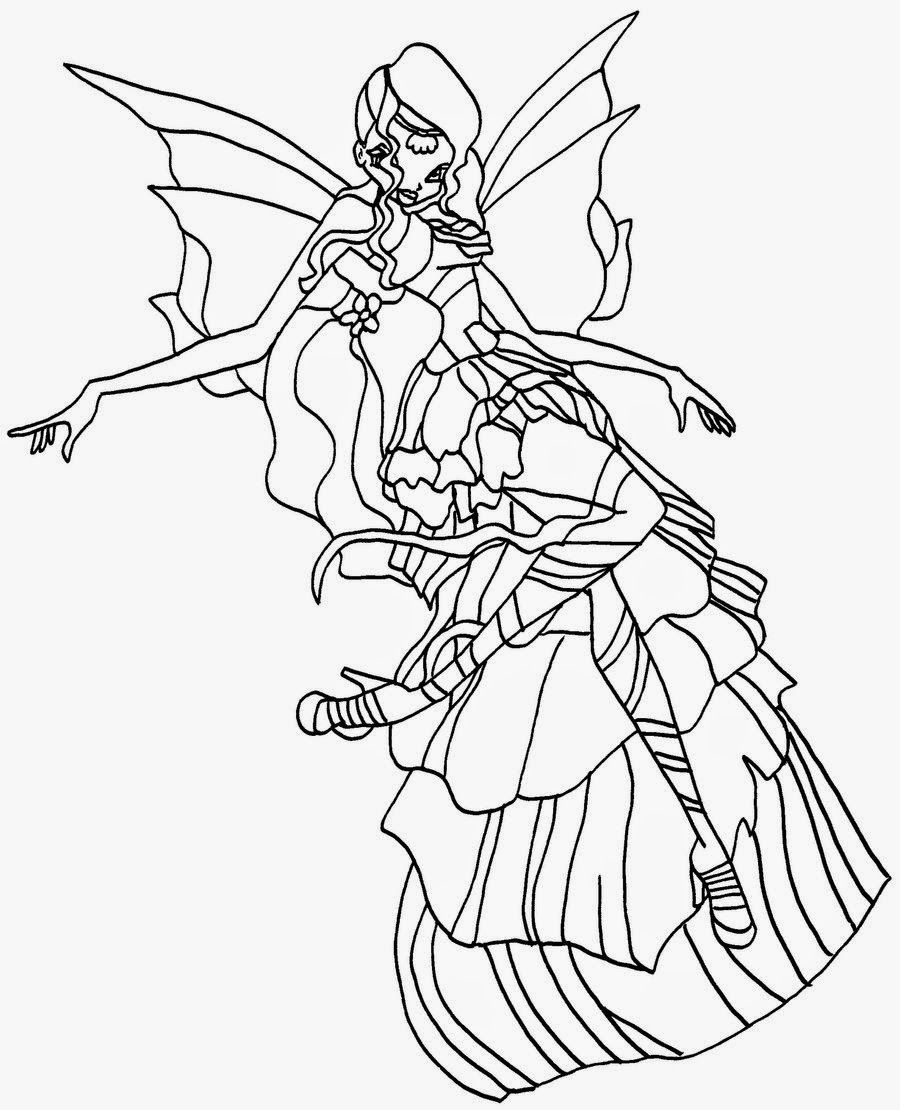 Winx Eyes Coloring Pages Disegni Da Colorare