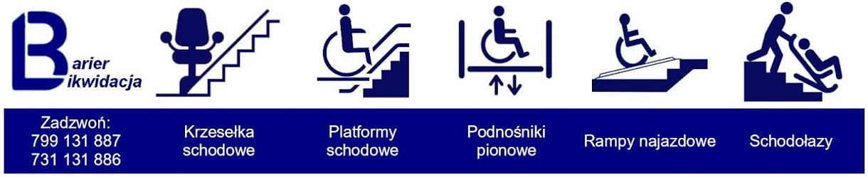 Krzesełka schodowe, platformy, schodołazy, podnośniki pionowe, likwidacja barier, windy schodowe