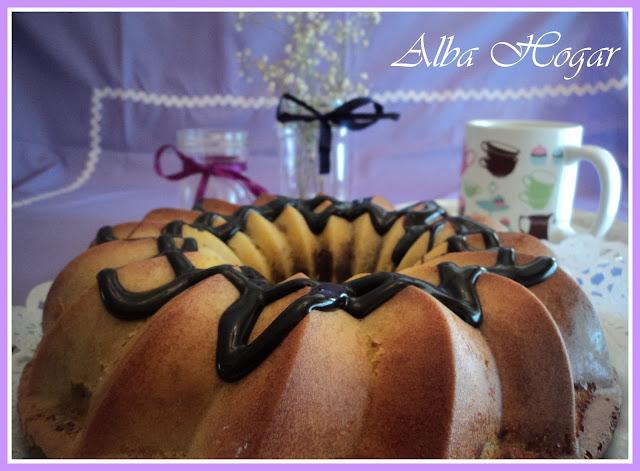 bizcocho bundt cake vainilla y chocolate alba hogar