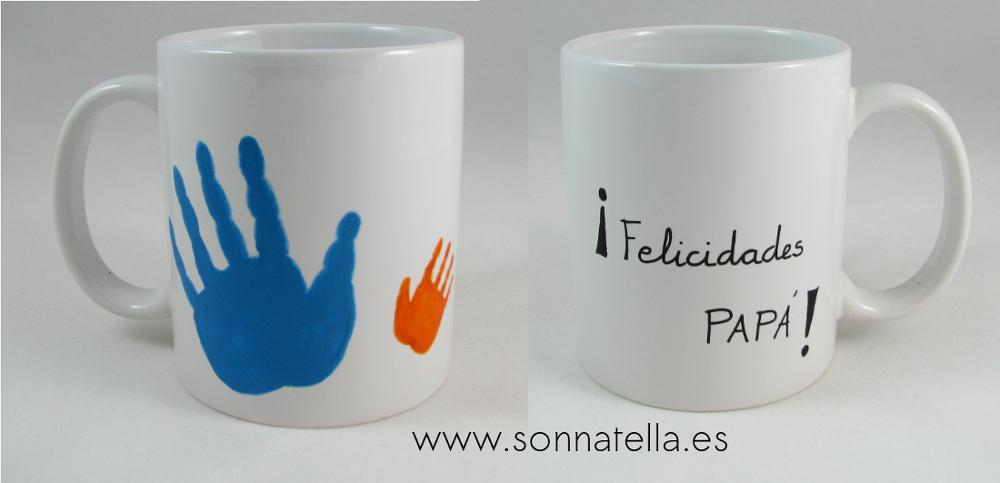Taza pintada a mano de Sonnatella. Dia del padre.
