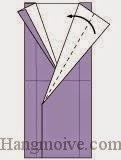 Bước 10: Gấp chéo lớp giấy sang trái.