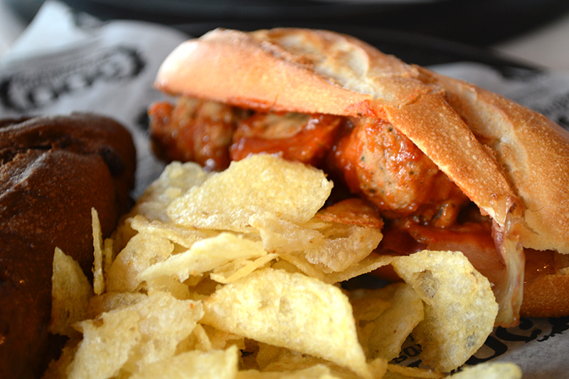 100 montaditos meatball marinara sandwich photographed by Fashion Blogger Anais Alexandre of Down to Stars