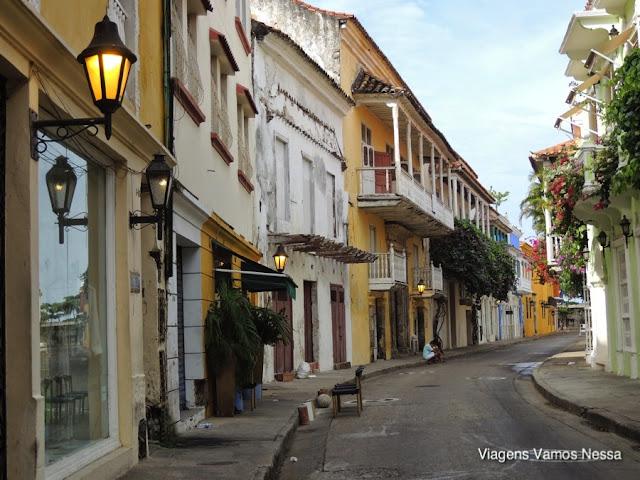 Casas coloniais do centro histórico de Cartagena