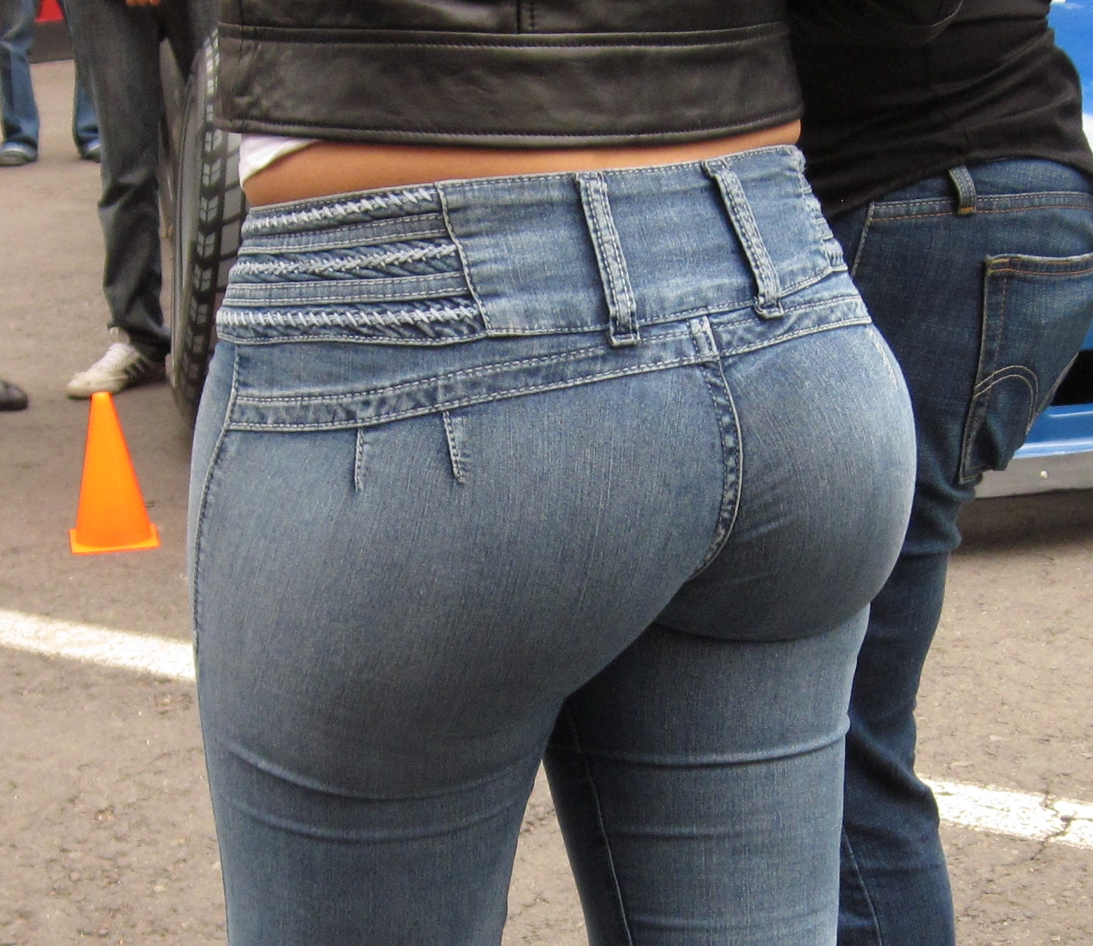 ass in tight jeans