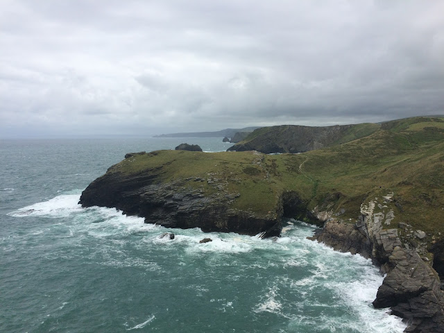 The view from Tintagel Castle - South West Coast Path