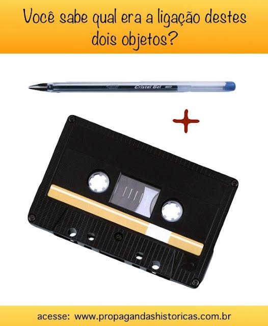 Quem nunca usou uma Caneta Esferográfica para rebobinar uma fita cassete? Veja esta curiosidade.
