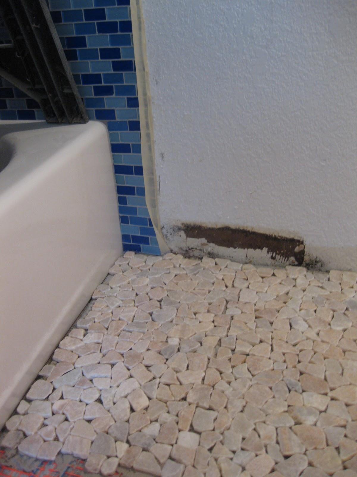 Innovative Flooring Heated Stone bathroom floor