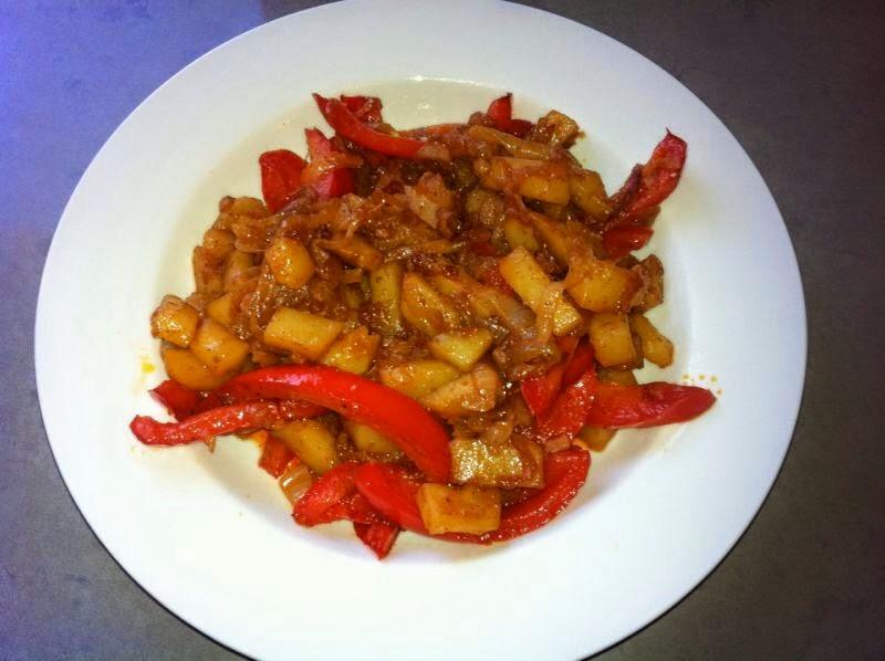 תבשיל תפוחי אדמה עם גמבה במחבת בקלי קלות