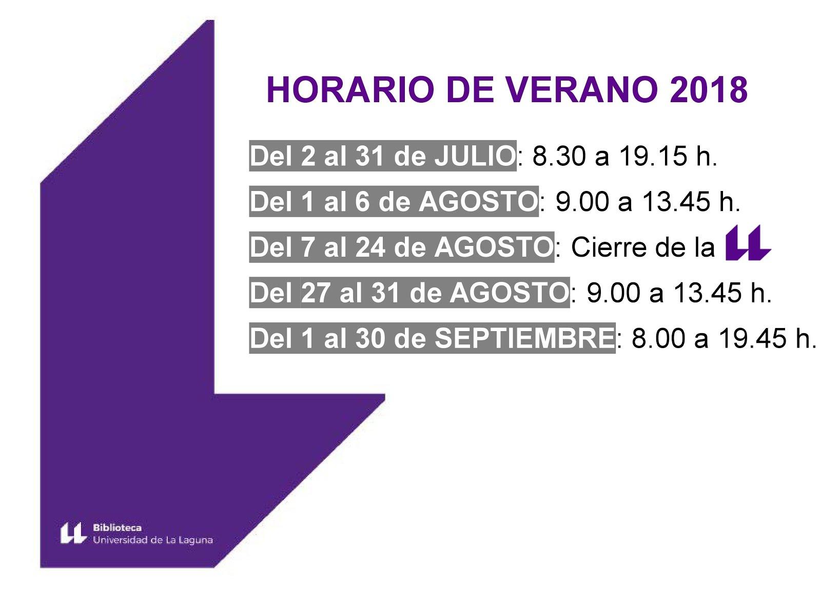 HORARIO DE VERANO