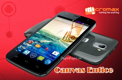Micromax Canvas Entice A105: 5-inch Android KitKat Phone for Rs.6999