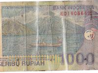 uang seribu rupiah dengan nomor seri edi