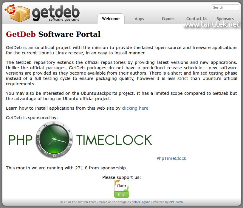Getdeb and Playdeb: Software Portal for Ubuntu