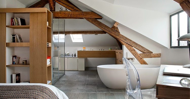 Dormitor i baie la mansard jurnal de design interior for Al saffar interior decoration l l c