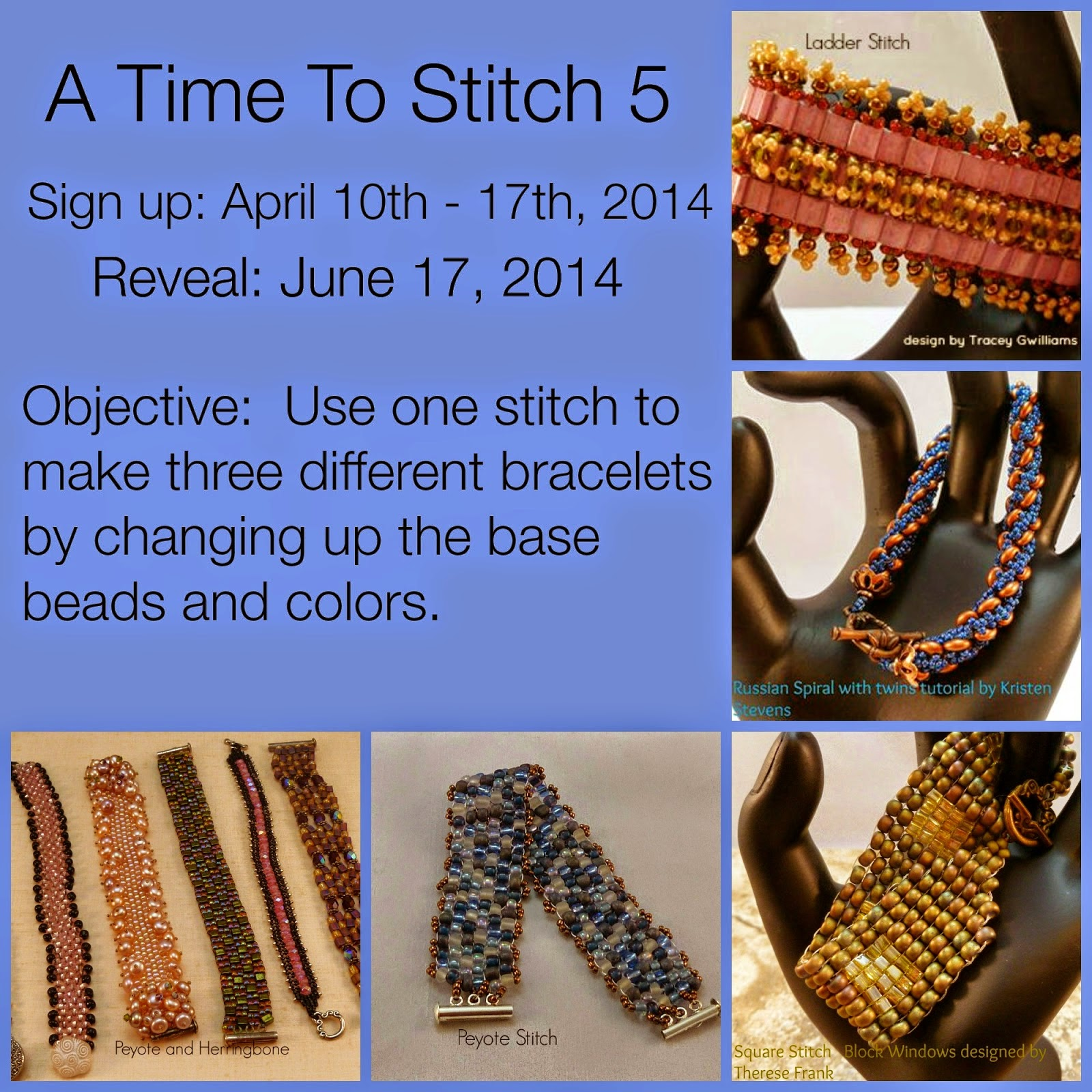 http://onekisscreations.blogspot.com/2014/04/a-time-to-stitch-5-same-but-different.html