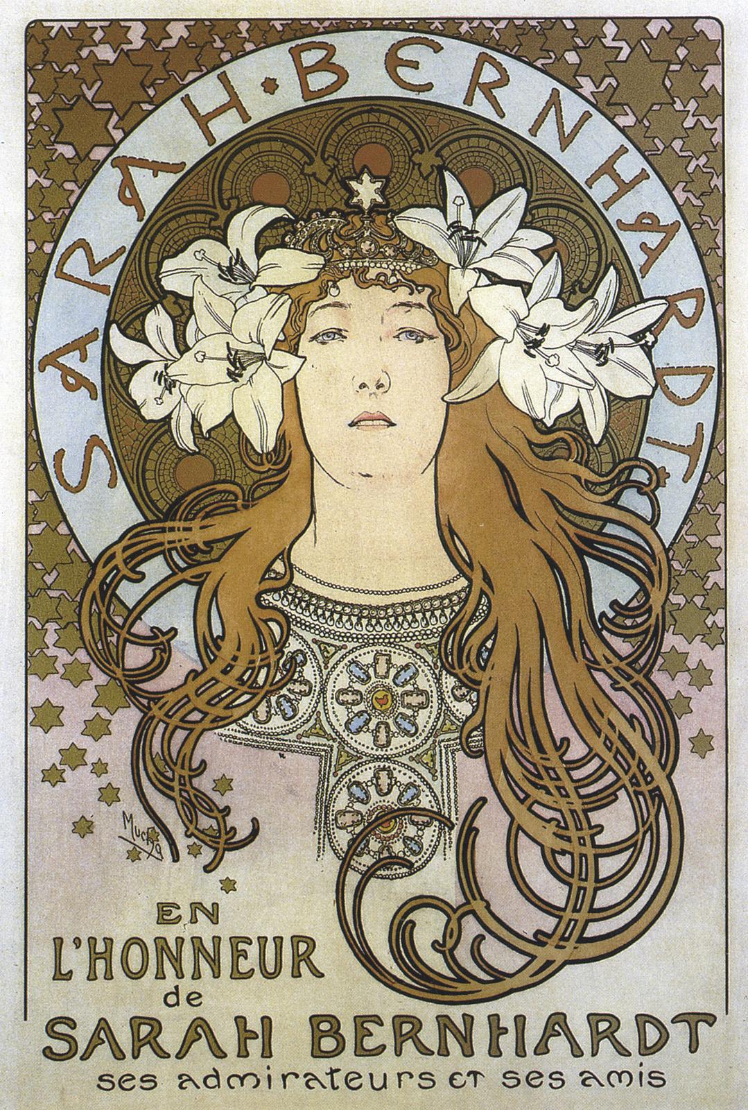 Alphonse Mucha: Poster of Sarah Bernhardt for 'La Plume' Magazine (1897)