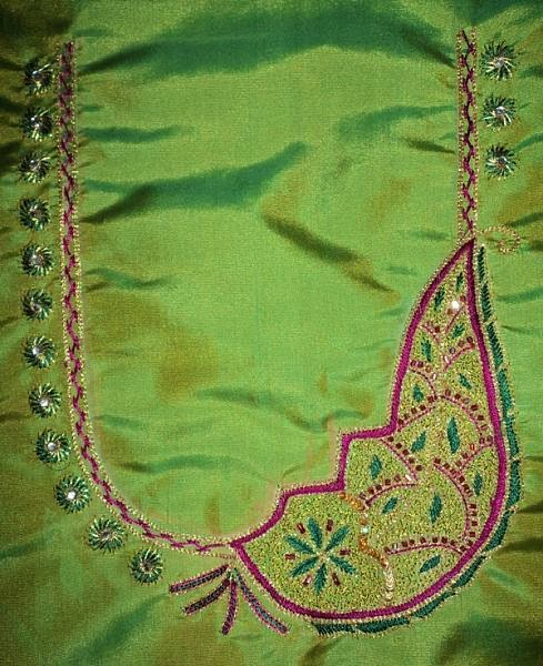 HAND EMBROIDERY WORK BLOUSE