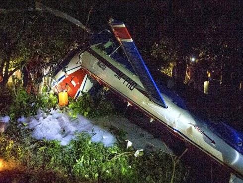 Gambar Helikopter PDRM Terhempas Di Tanah Merah Kelantan 31-12-2014