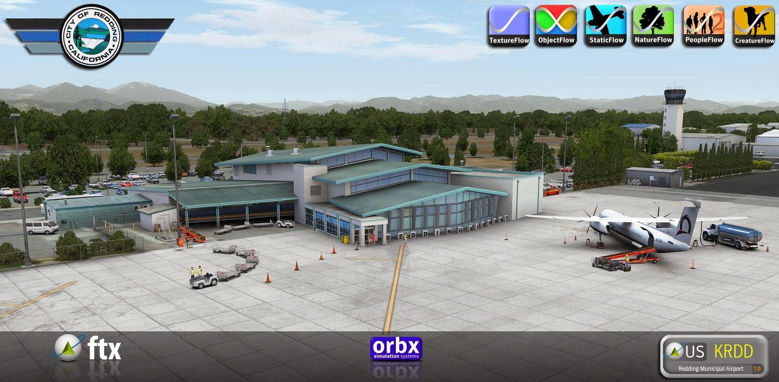 fsb released ftx orbx redding municipal airport. Black Bedroom Furniture Sets. Home Design Ideas