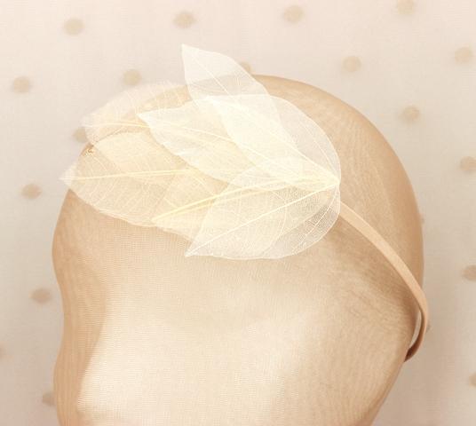 Colección Hojas - Tiara Nude