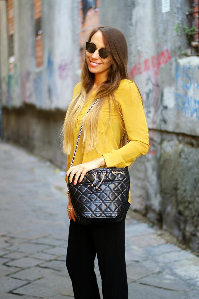 camicia giallo senape