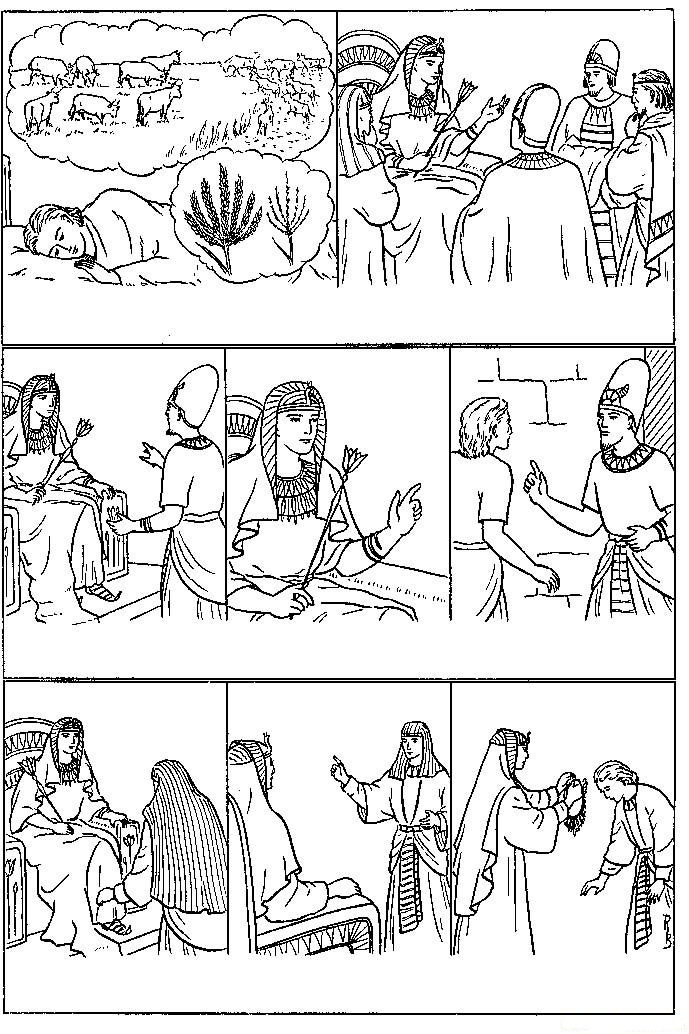 Dibujos Cristianos Para Colorear De Jose En Soador