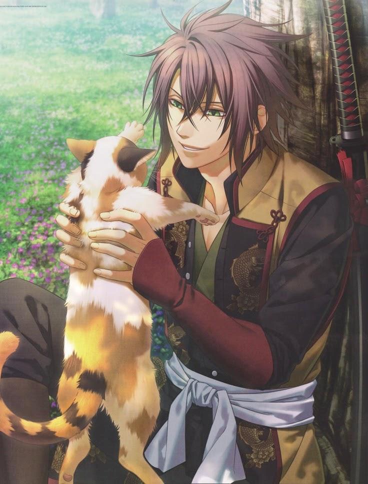 Seishin, Takeru  Hakuouki+Okita+Souji+and+cat