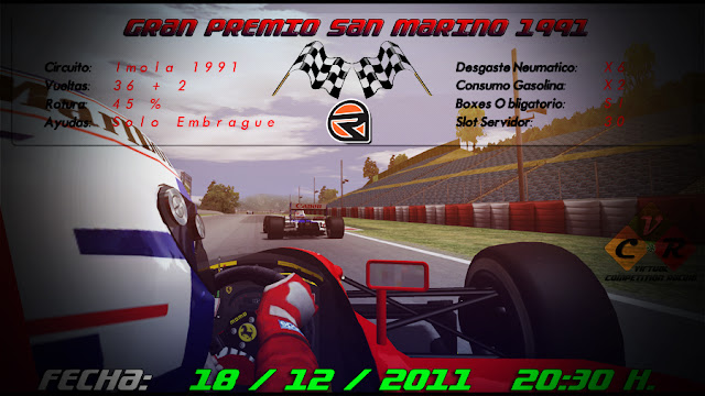 Cartel pretemporada 2012 rFactor VCR