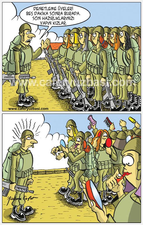 denetleme-Kadinlar Asker Olursa?