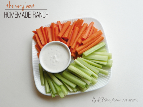The Very Best Homemade Ranch