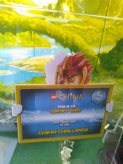 LEGO Chima Challenge Certificate
