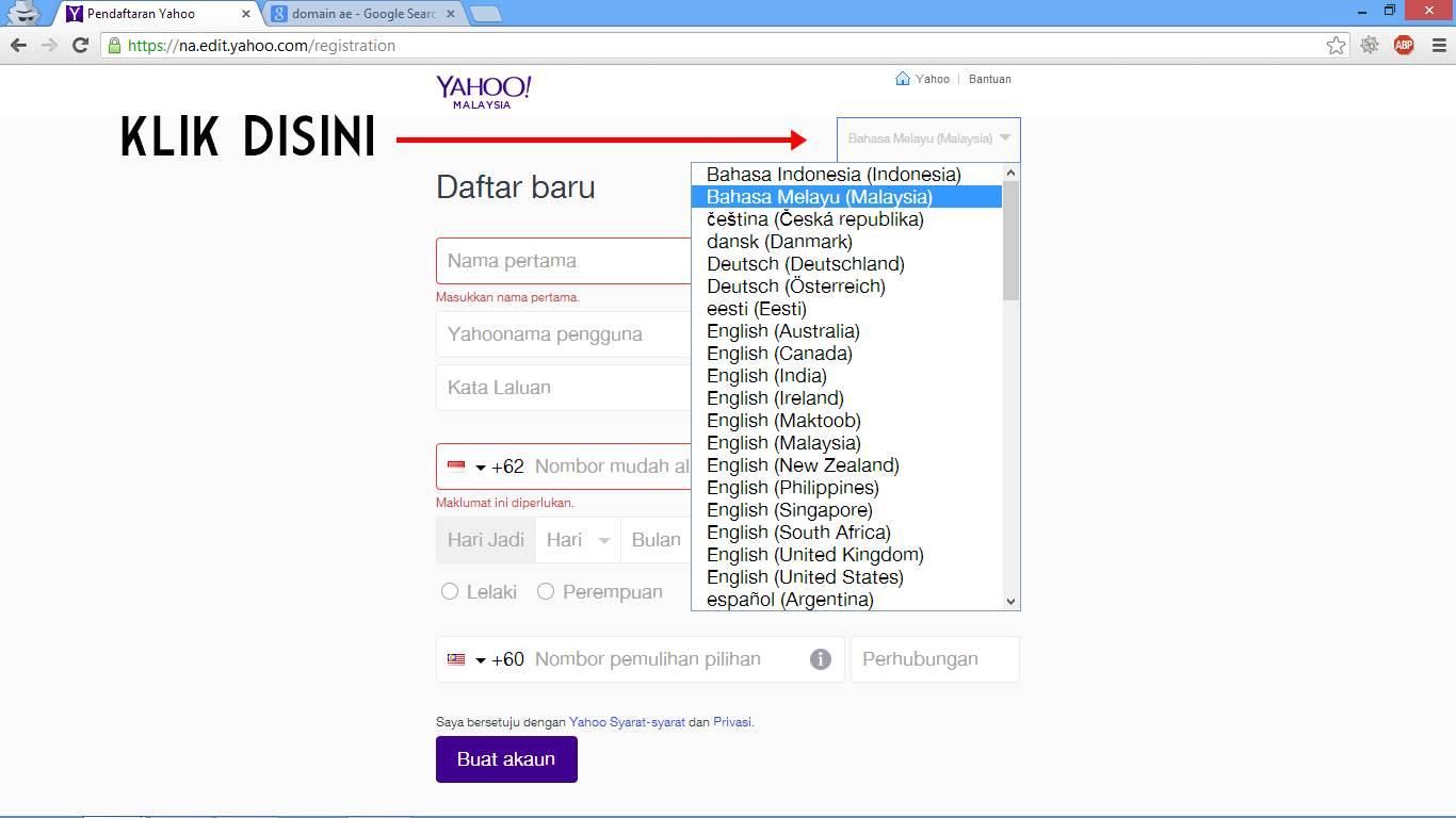Cara Membuat Email Baru di Yahoo Indonesia gambar 1