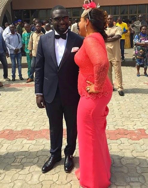 Warri Billionaire Ayiri Emami in his N4.9m Wedding Suit with Wifey
