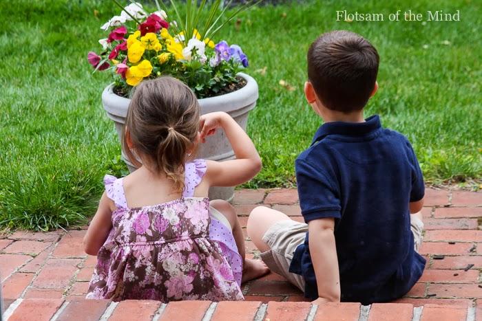 Kids on Step - Flotsam of the Mind