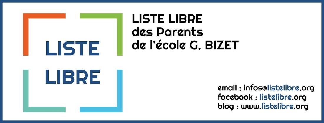 Liste Libre des parents de l'école G. BIZET